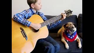 Mason Ramsey with Doug The Pug| The country duo u never knew u needed