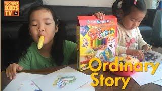 [원더키즈TV]신기한 색연필 놀이- 재이와 지수가 유리창에 그림을