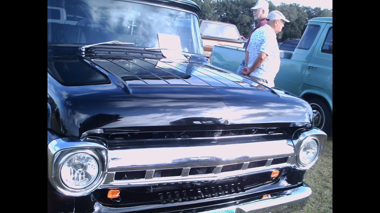 1957 Ford F Series Styleside Four Door Pickup Truck Blk