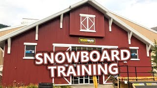 Woodward Barn Snowboard Training
