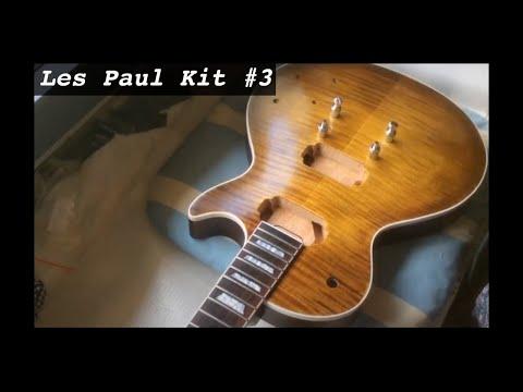 guitare en kit type les paul collage manche et fixation chevalet youtube. Black Bedroom Furniture Sets. Home Design Ideas