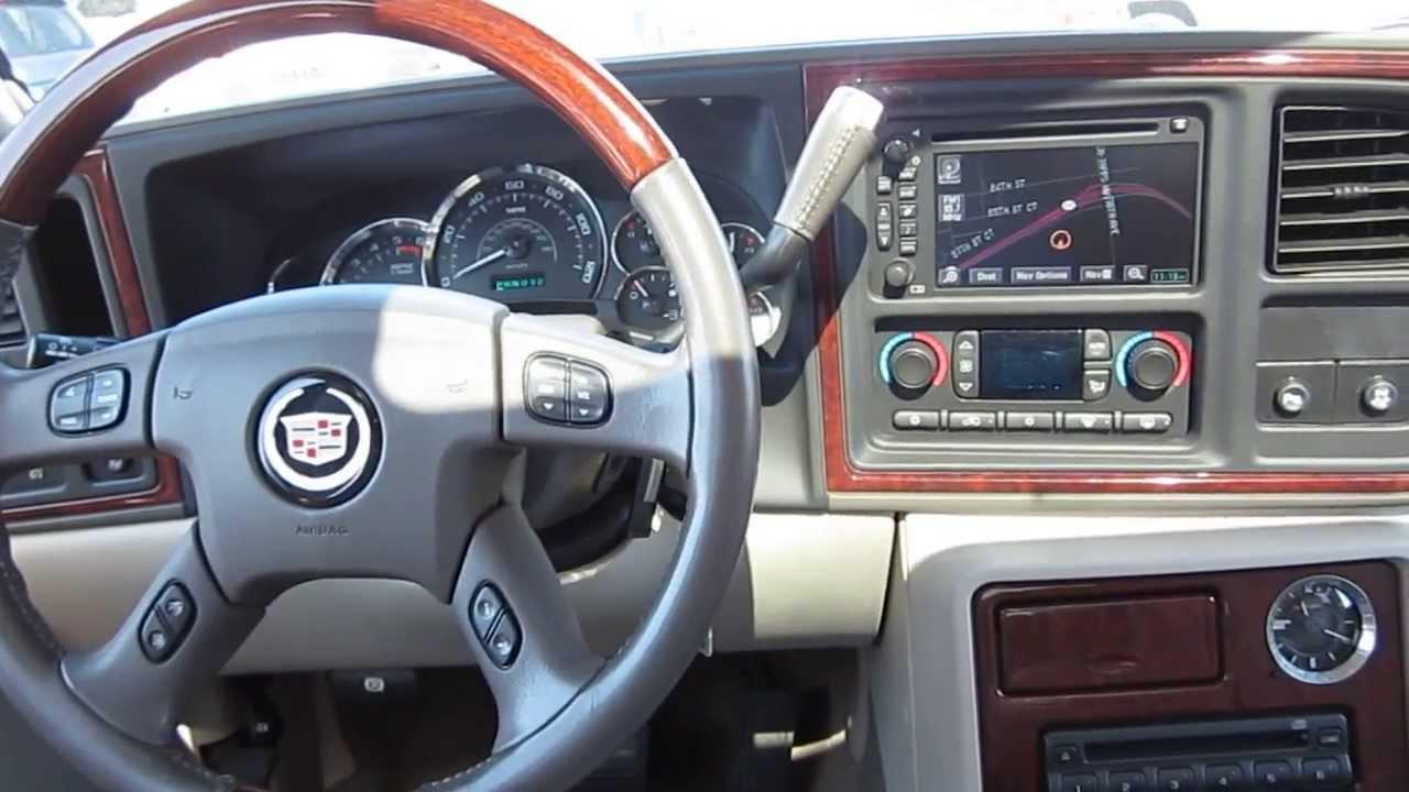 2005 Cadillac Escalade White Pearl Stock A3037c Interior Youtube
