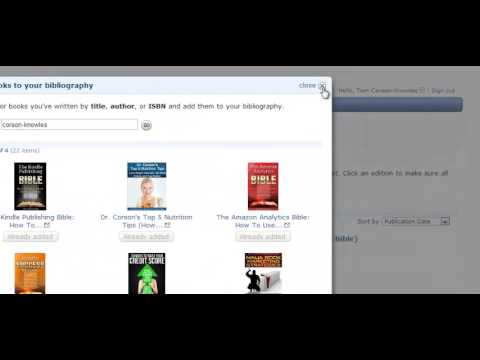 How To Setup an Author Central Page On Amazon