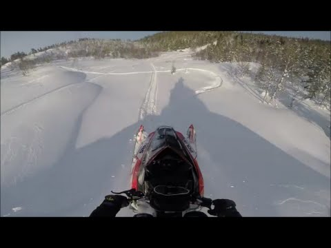 2015 Polaris RMK 800 Playing In Fresh, Ends With A Nosedive