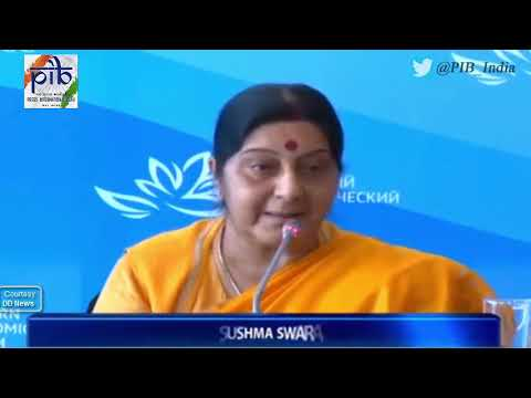 External Affairs Minister Sushma Swaraj launches 'Russia Desk' at 3rd Eastern Economic Forum