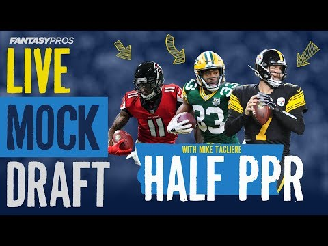 Live Mock Draft Against Mike Tagliere (2019 Fantasy Football)