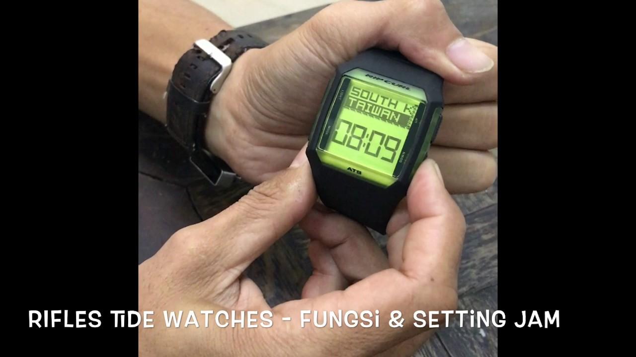 eab01393df75 Rifles Tide Watches Rip Curl - Fungsi dan Cara Setting Jam - YouTube