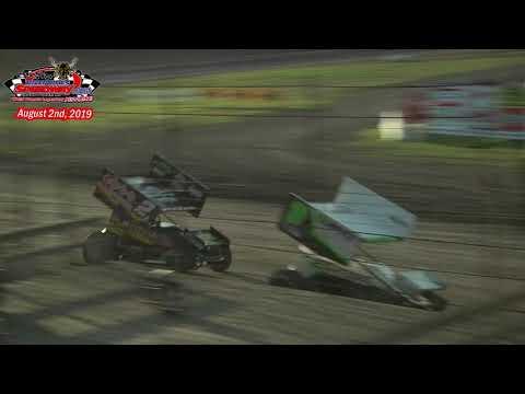 River Cities Speedway NOSA Sprint Car Heats (8/2/19)
