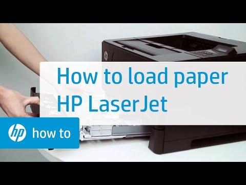 Loading Paper Hp Laserjet Printers Hp Youtube