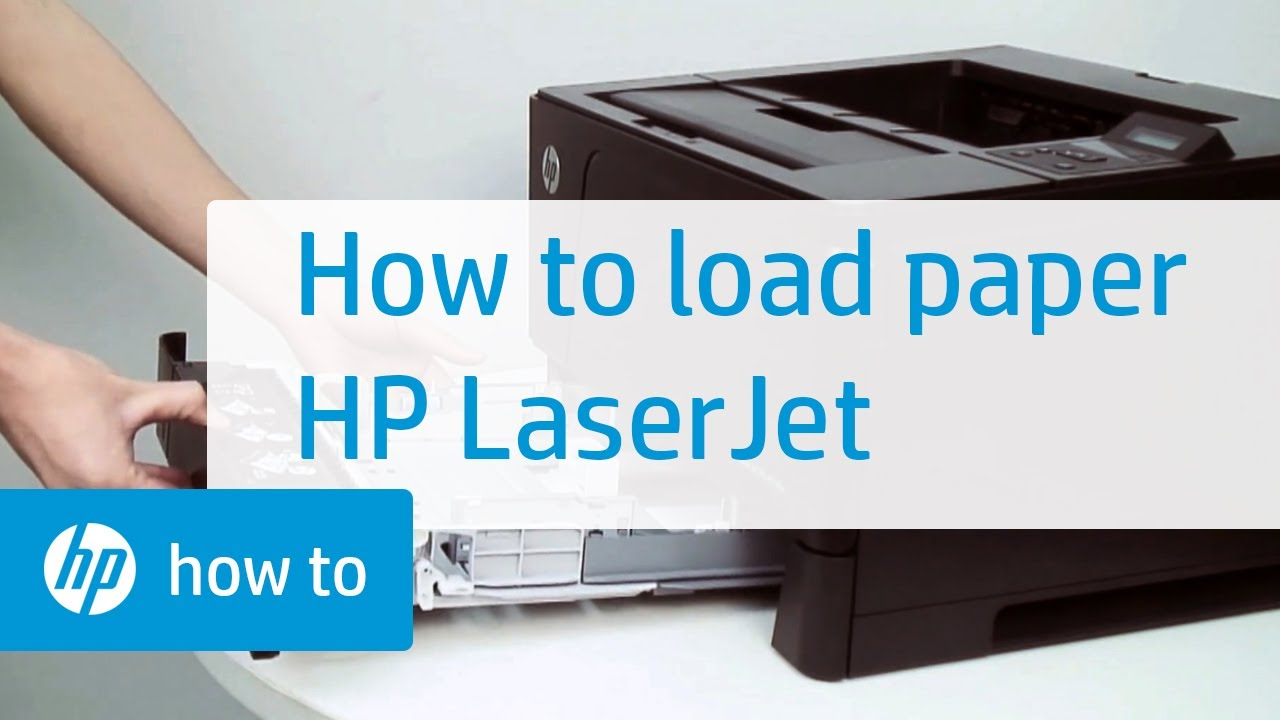 Loading Paper Hp Laserjet Printers Youtube Pick Up Roller Tray 1 P2035 P2055 M401 Hpsupport