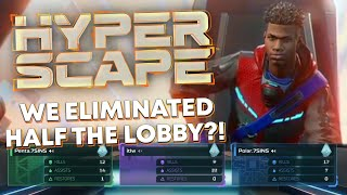 Hyper Scape - We Eliminated HALF The Lobby?!