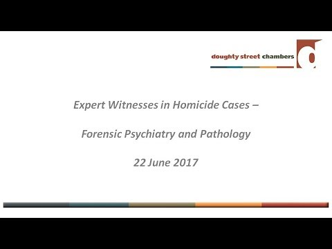 Handling expert evidence in homicide cases