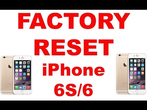 hard reset iphone 5c factory reset iphone 6s 6 5s 5c 5 4s 4 6505