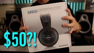 Best Headphones Under $50: Samson SR850 Review (2015)