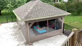 patio wind blocking roll up curtains