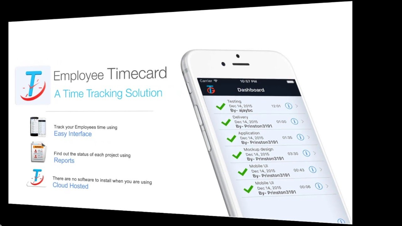 employee timecard simple way to track work hours youtube