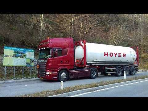 """Harry on the road to Slovenia.  """"Bie Transport Company"""""""