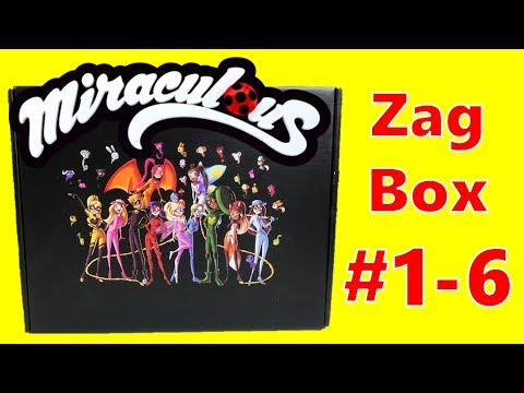 6 Months Of Zag Box Subscriptions With Miraculous Ladybug Merch - Compilation