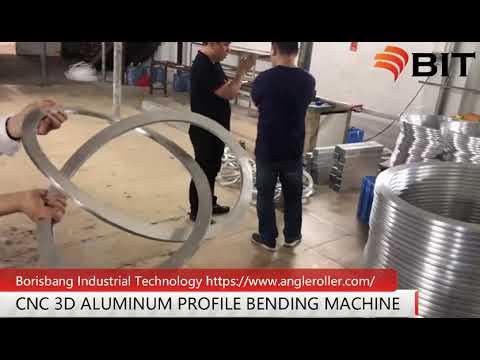 CNC 3D profile bending machine bends aluminum into a 3-dimensional shape