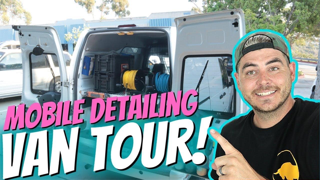 Mobile Car Detailing Set Up - Detailing Van Tour