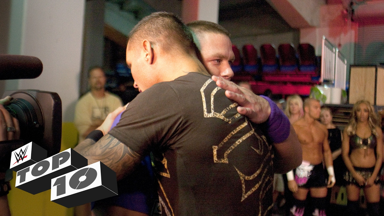 Superstars Hug it Out: WWE Top 10 #1