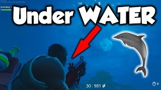 *GLITCH* How to go UNDER WATER in Fortnite... (NOT Patched!)