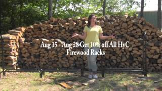 Hy-c August Promotion - Receive 10% Off All Hy-c Firewood Racks