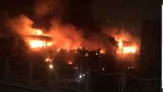 Сегодня 31.01.2015. Крупный пожар в библиотеке ИНИОН в Москве есть пострадавшие.