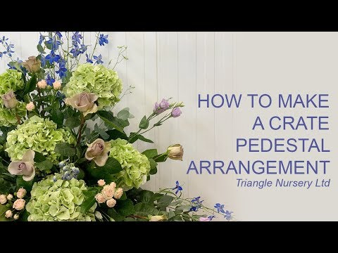 How To Make A Crate Pedestal Arrangement - Wholesale Flowers Direct