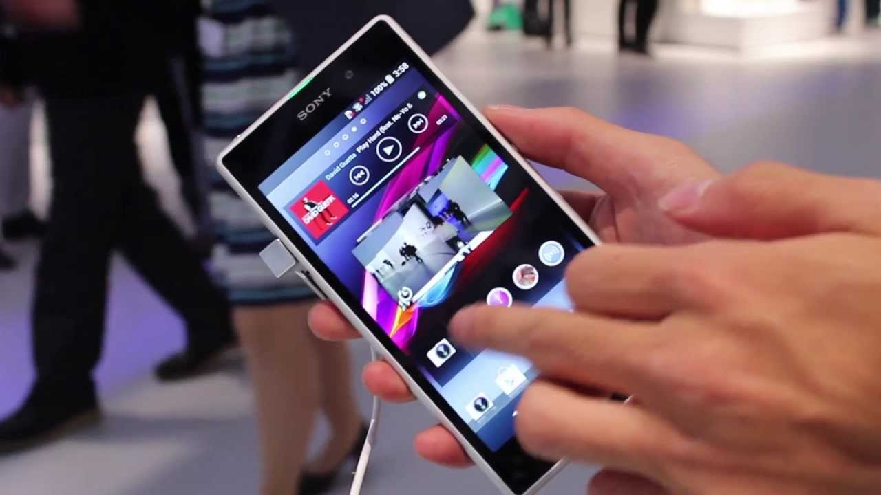 Xperia Z1 White Color Hands on!! - YouTube