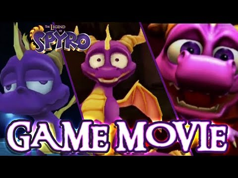 The Legend of Spyro Trilogy Full Game Movie   All Cutscenes