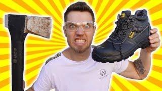 Wie stabil sind Stahlkappen Schuhe? - Experiment!