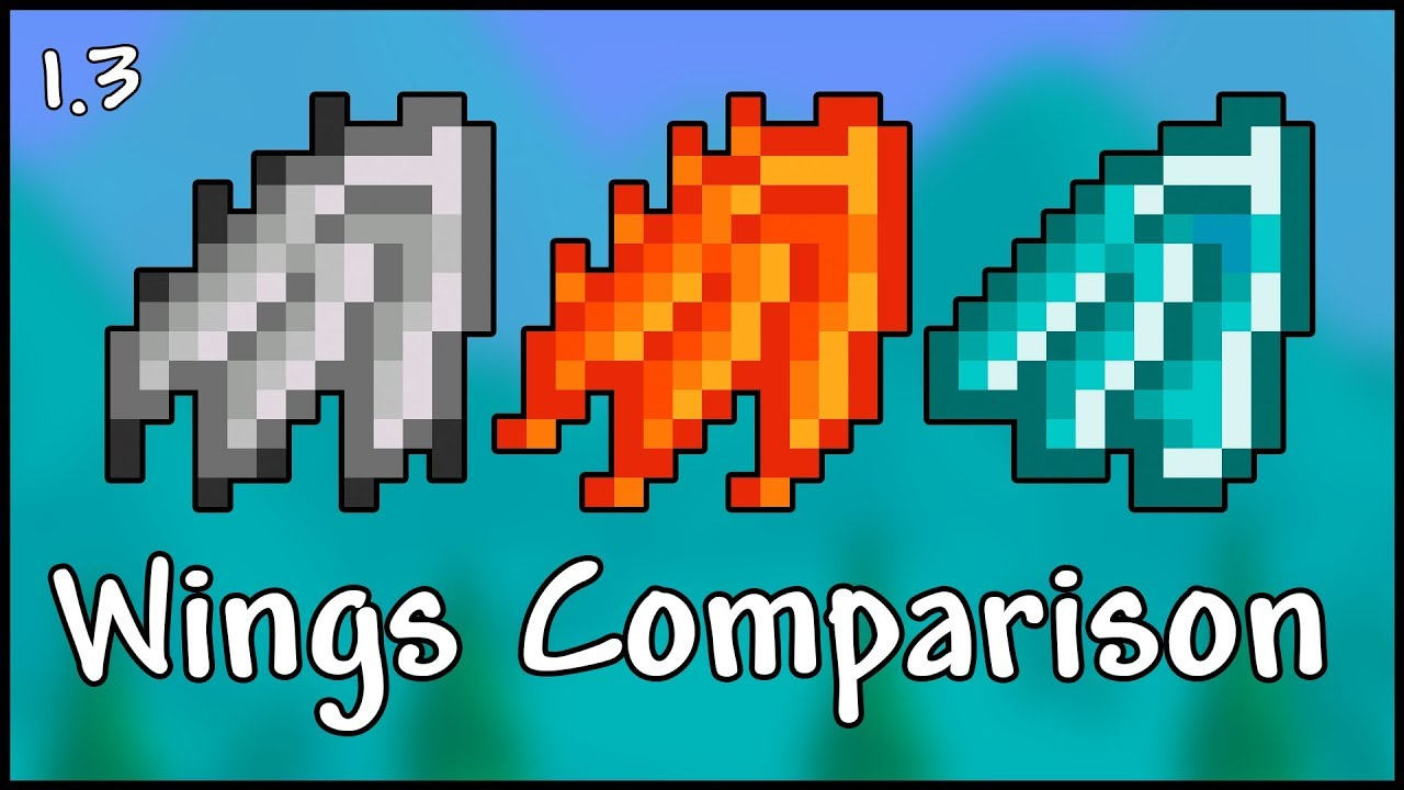 All Wings Comparison and Tier List - Terraria 1 3