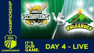 🔴LIVE Jamaica vs Windward Islands - Day 4 | West Indies Championship | Sunday 19th January 2020