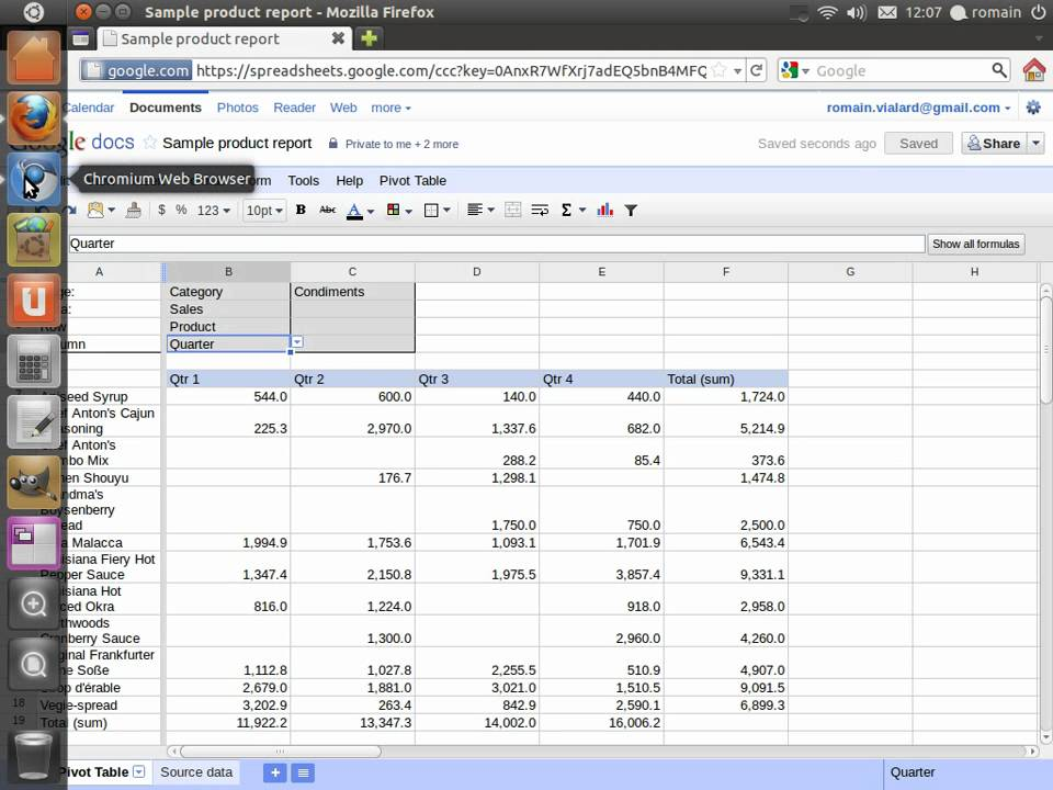 Can you do a pivot table in google sheets