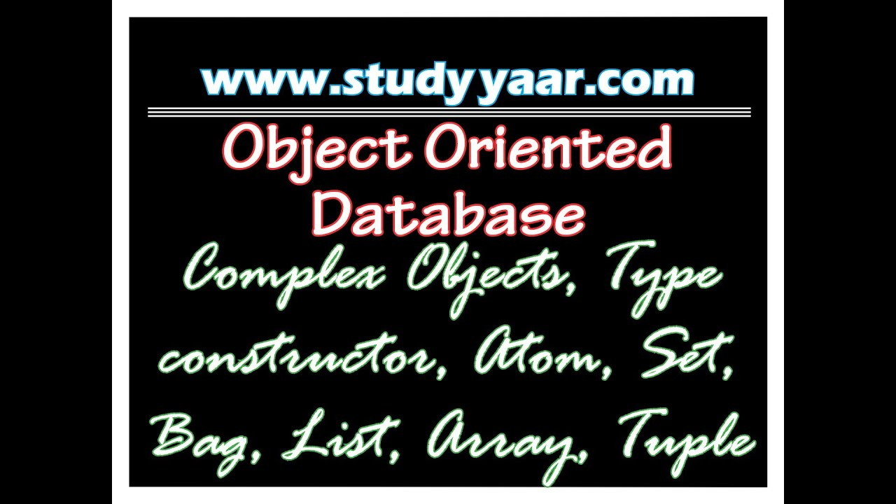 Master thesis object oriented databases