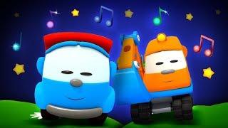 Deutsche Cartoons und Schlaflied für Kinder - Ein Tag mit Leo dem Lastwagen
