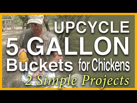 Super Simple Chicken Feeder & Nest Box: Upcycled 5 Gallon Buckets