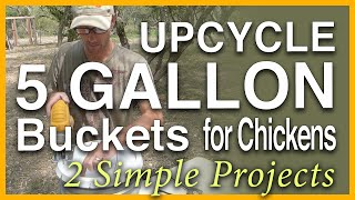 Super Simple Chicken Feeder & Nest Box: Upcycled 5 Gallon Buckets