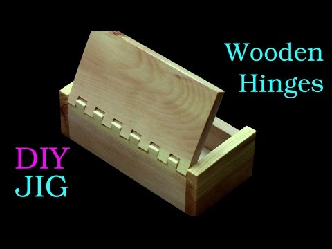 How to make a box with wooden hinges only with a table saw