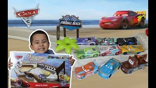 Cars 3 Fireball Beach Racers, Unboxing Beach Duel Playset, Next Gen MICHAEL ROTOR, GIVEAWAY