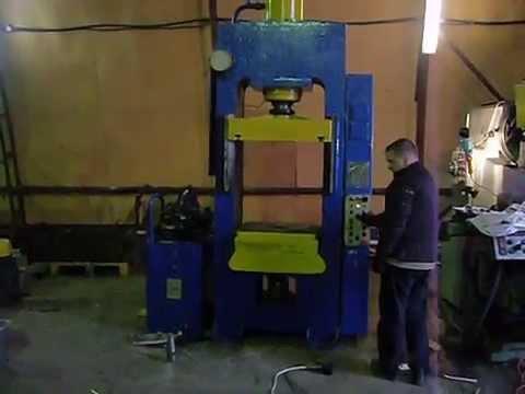 электрогидравлический пресс с усилием до 18 тонн - YouTube