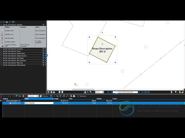 Consistent Takeoff Output in Bluebeam Revu with ZenTek Revu