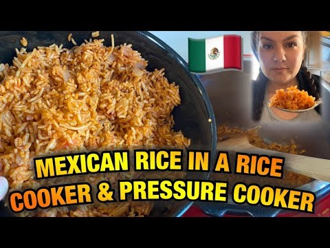 Mexican / Spanish Rice In A Rice Cooker & Pressure Cooker