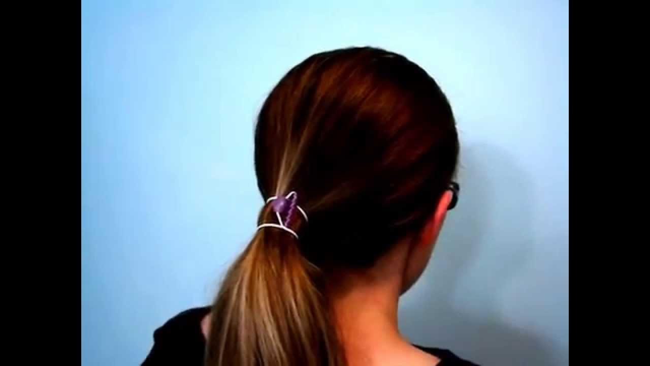 How to Wear a Standard Ollen Hair Bungee Tie - YouTube cdb6b7fe6dd