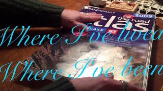 ASMR Page turning of Atlas Road Maps/Writing with pencil (No talking) Crinkly pages