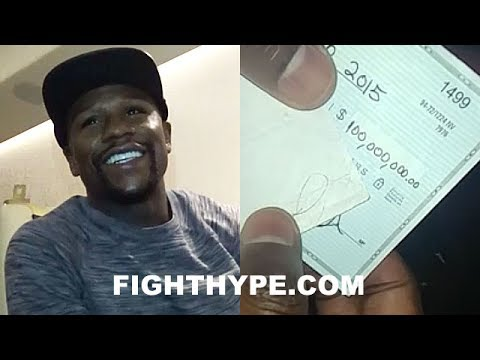 Thumbnail: FLOYD MAYWEATHER SHOWS OFF $100 MILLION CHECK; STUNTS ON HATERS, LAUGHS AT TAX STORIES, BUYS 2 CARS