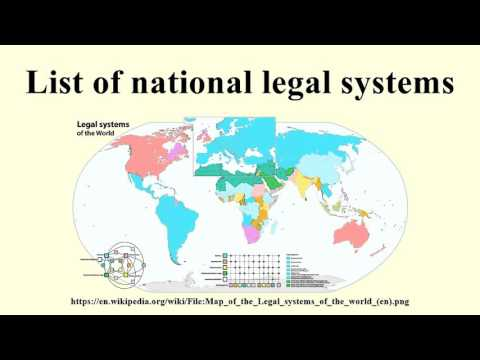 List of national legal systems