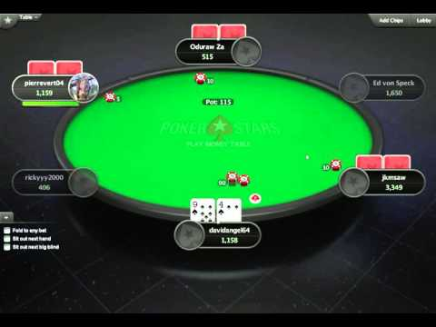 Playing on the Flop and After the Flop (PokerStars Play Money Account)