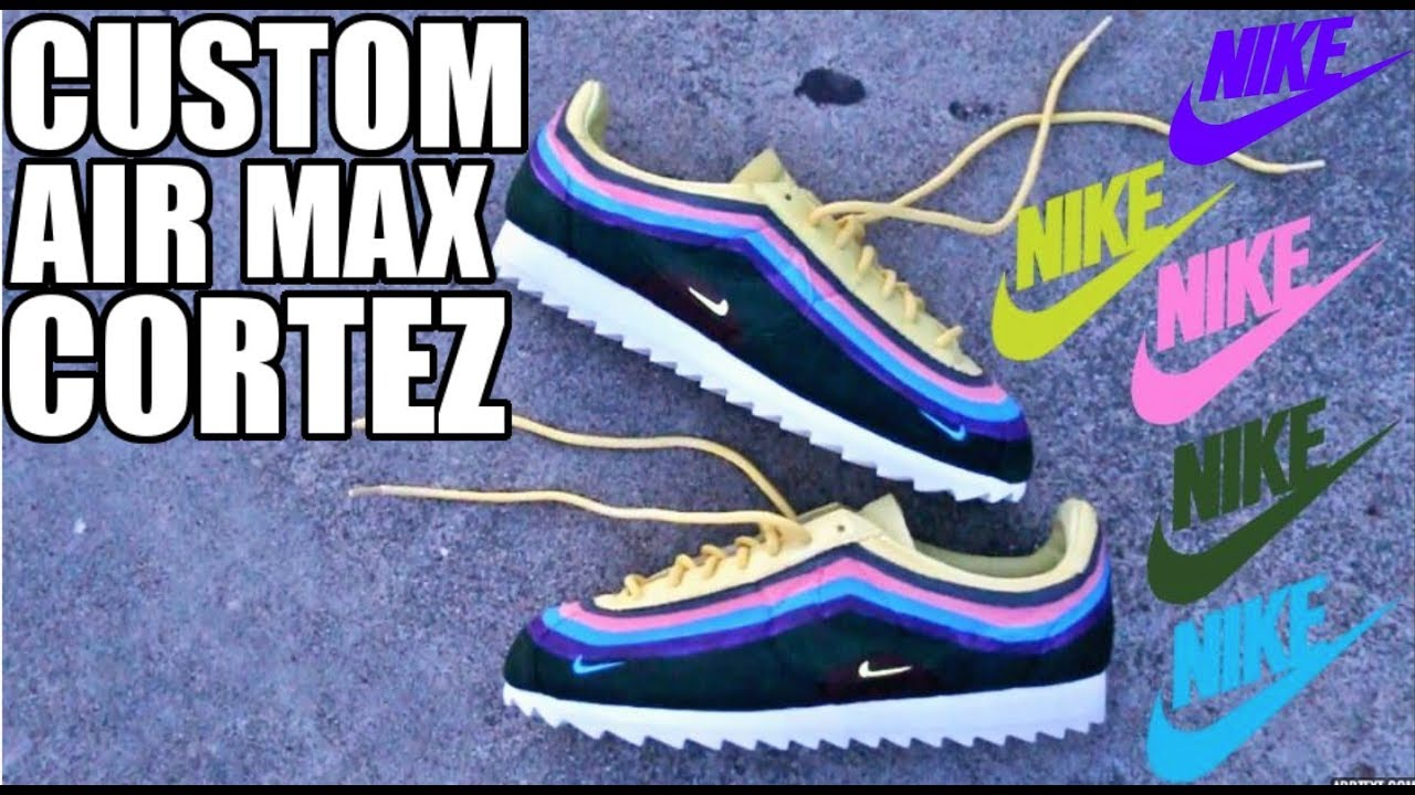 the best attitude d367e 98c15 CUSTOM SEAN WOTHERSPOON AIR MAX CORTEZ !!